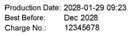 REINER jetStamp 970 - muestra de marcada: Texto, fecha, numero
