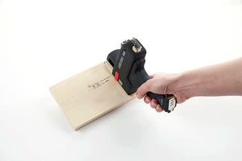 Hand-held printer for wood