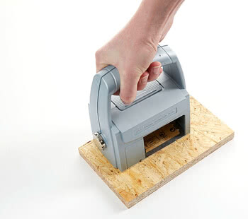 Handheld printer on wood