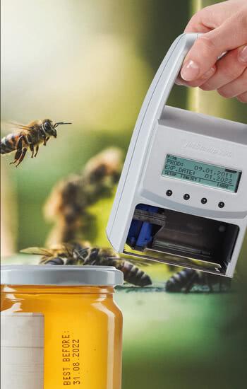 Presión sobre tarros de miel