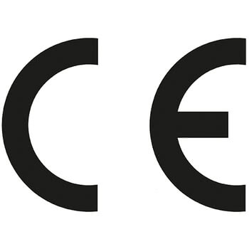 CE logo print