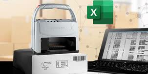 Gracias a la conexión Excel: etiquetado sin etiquetas: rápido, fiable y económico